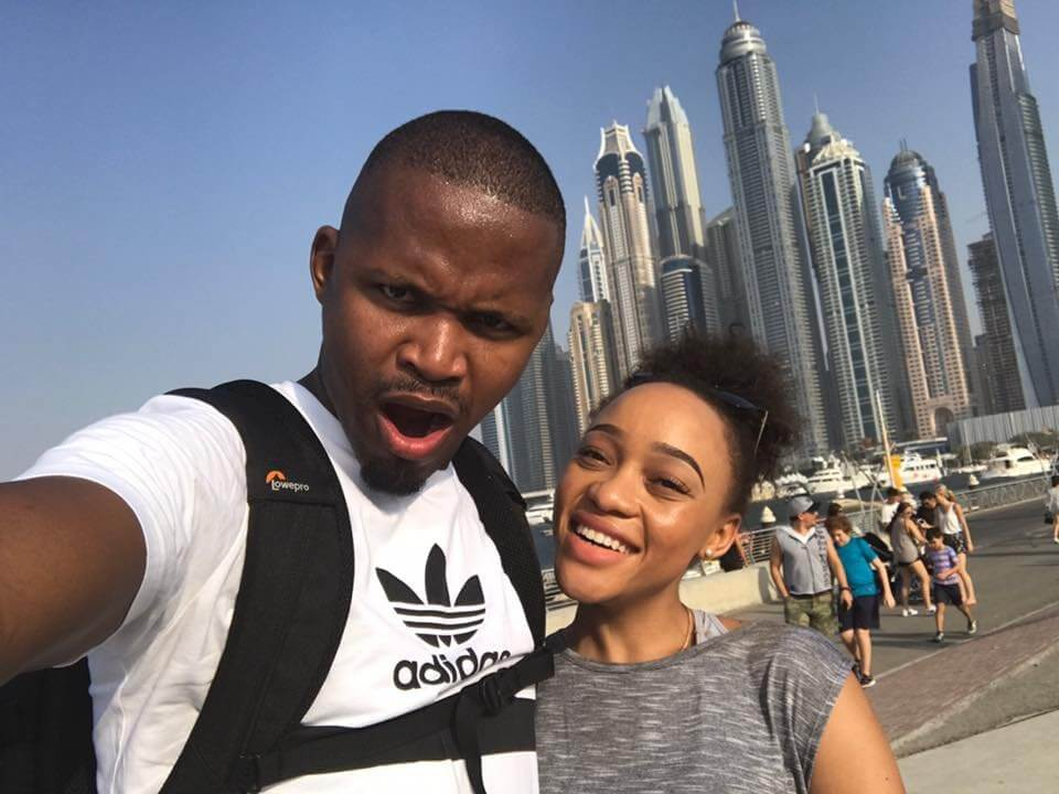 Thando Thabethe and boyfriend