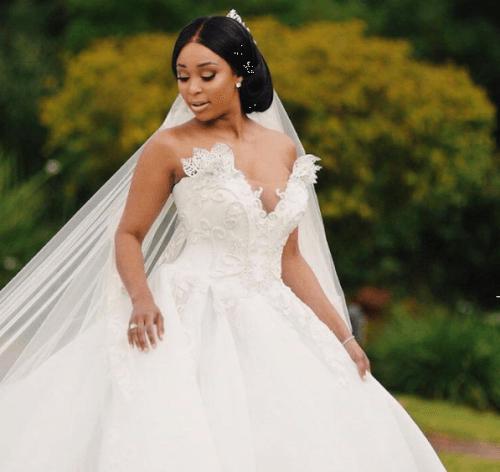 Pictures of Minnie Dlamini White wedding