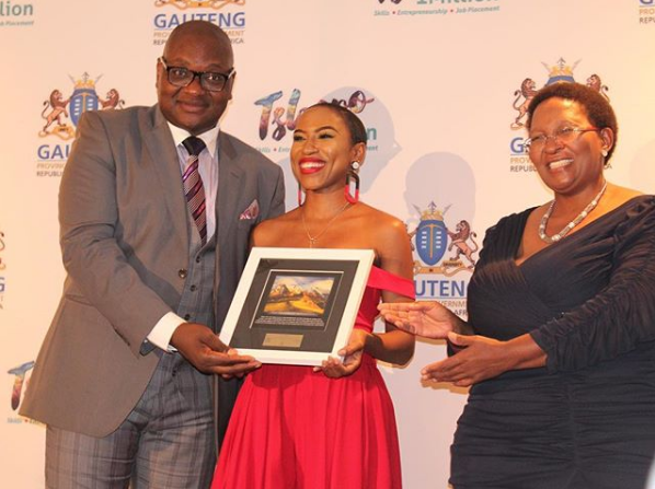Tumi Voster honoured with Youth Excellence Award