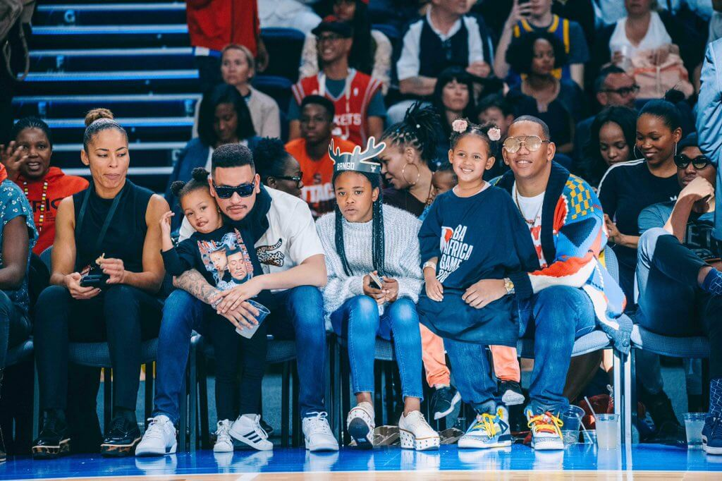 AKA and Da L.E.S with their daughters