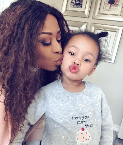 DJ Zinhle and her daughter Kairo