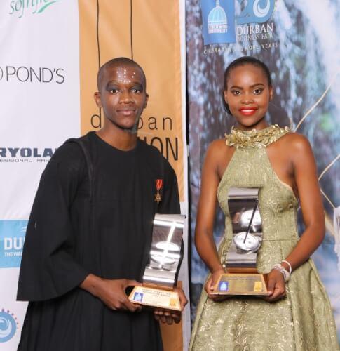 Durban Fashion Fair winners Ntando Shandu & Nandile Mkhize