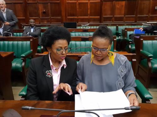 Basetsana Kumalo and Florence Masebe