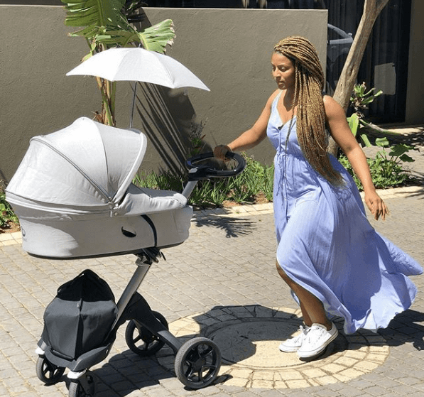 Jessica Nkosi with her baby