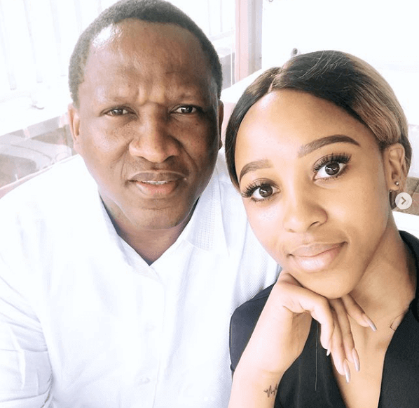 Sbahle Mpisane and her father Sbu Mpisane