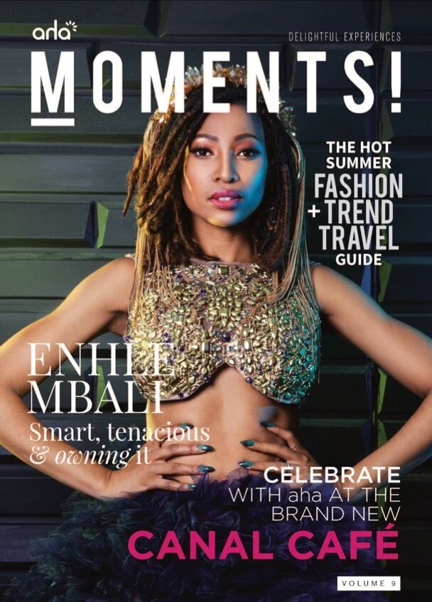 Enhle Mbali Maphumulo moments magazine