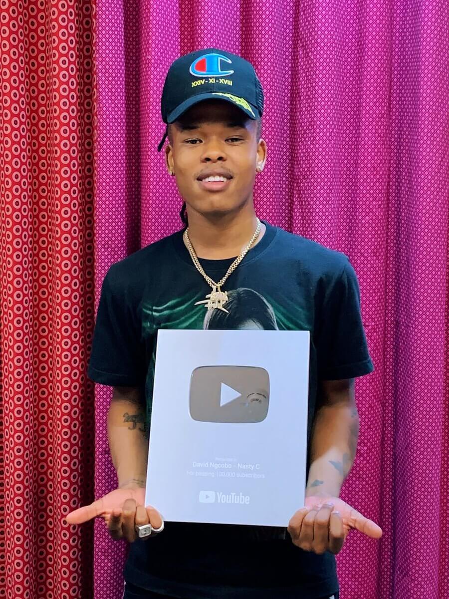 Nasty C YouTube plaque