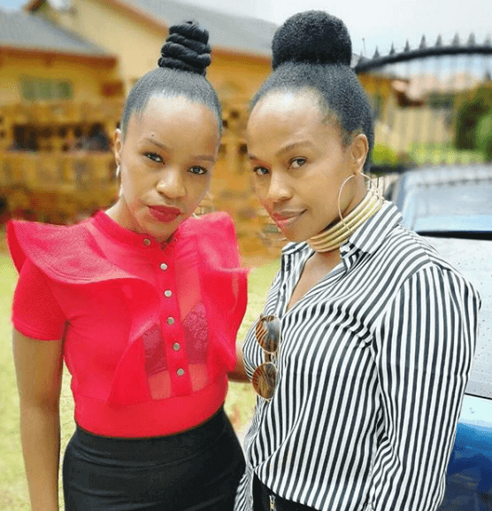 Sindi Dlathu and twin sister Zanele Dlathu South African celebrity twins