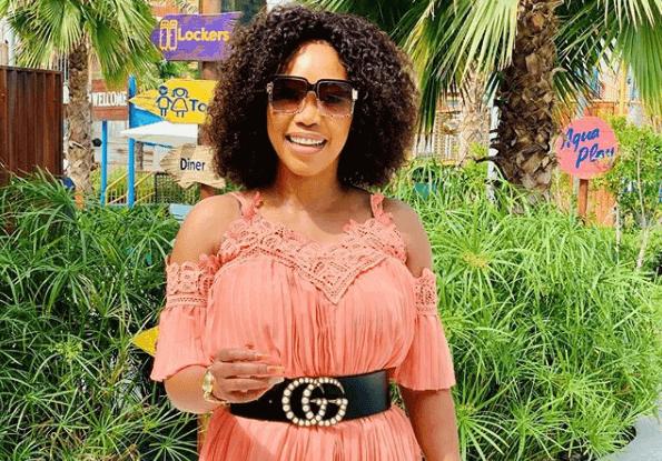 Actress Sonia Mbele