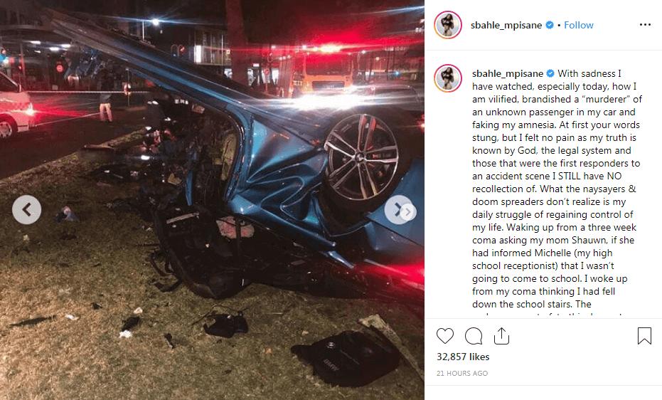 Sbahle Mpisane car accident
