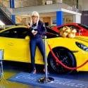 Khanyi Mbau car Porsche GTS