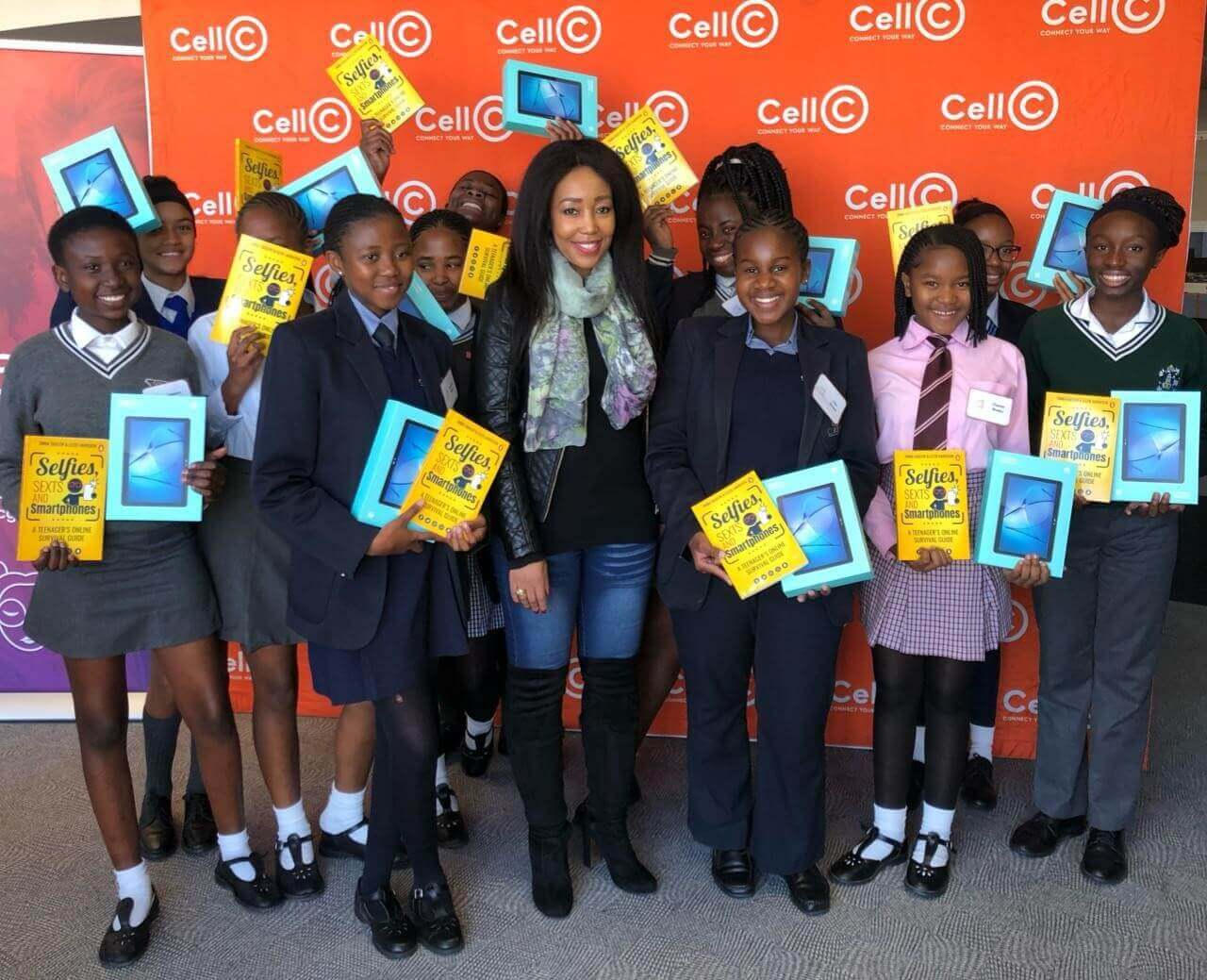 Juliet Mhango Cell C's Chief Human Capital Development and Transformation Officer With the girls