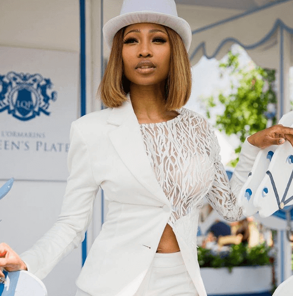 Enhle Mbali Miss South Africa red carpet