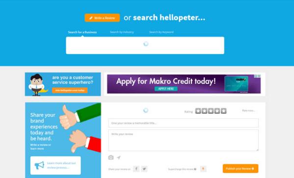 Hellopeter website