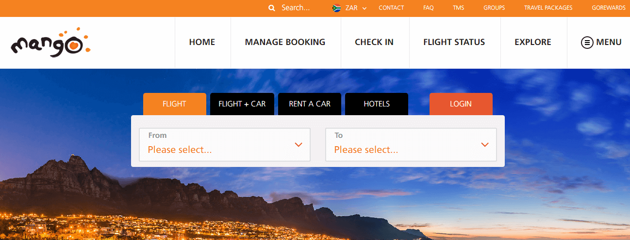 Mango Airlines Bookings