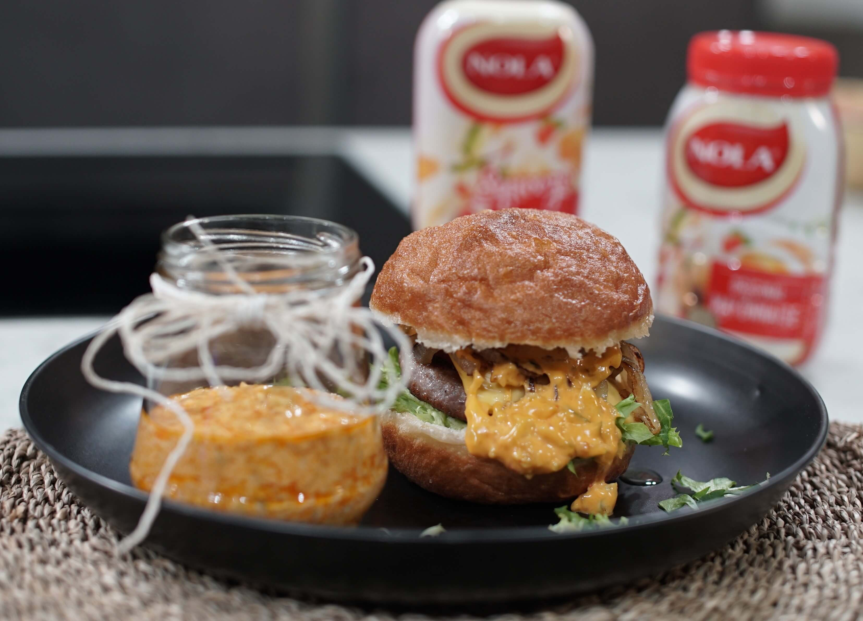NOLA Vetkoek Cheesburger with creamy Atchar sauce_brand