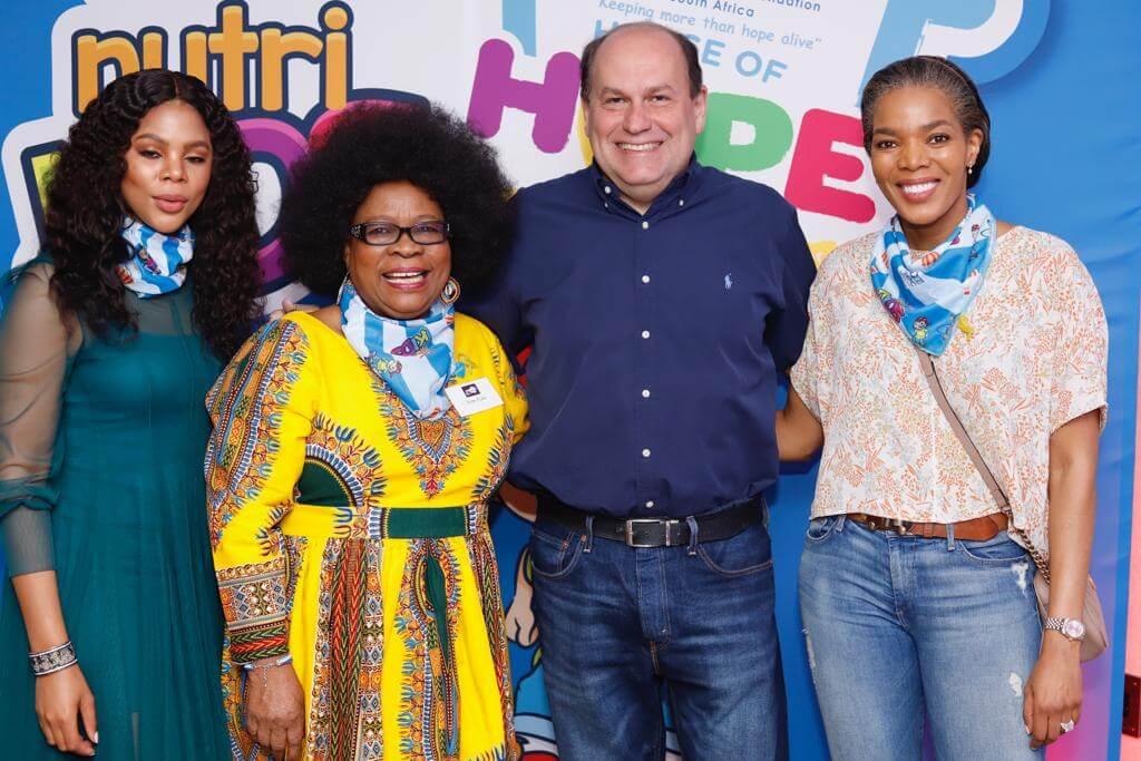 Clover Olwethu Leshabane, Lillian Dube, Marcelo Palmeiro and Connie Ferguson