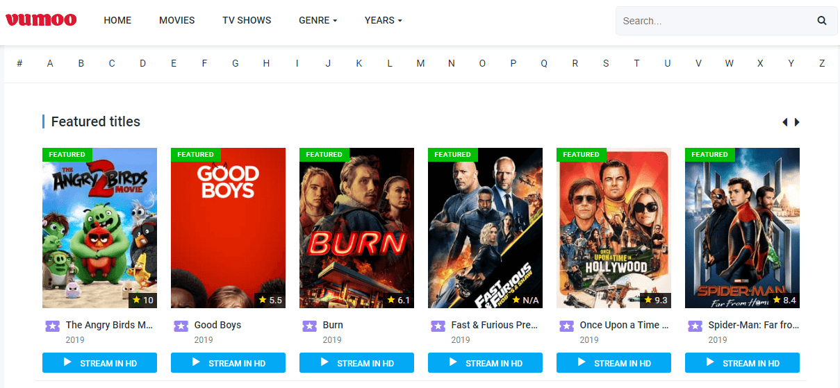 Vumoo Watch Free Movies Online and TV Shows