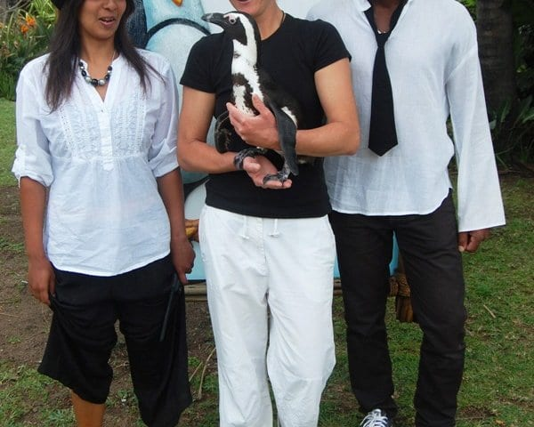 Raecine Bates, Kerry Cahill and Cyril Mdlalose uShaka Marine World