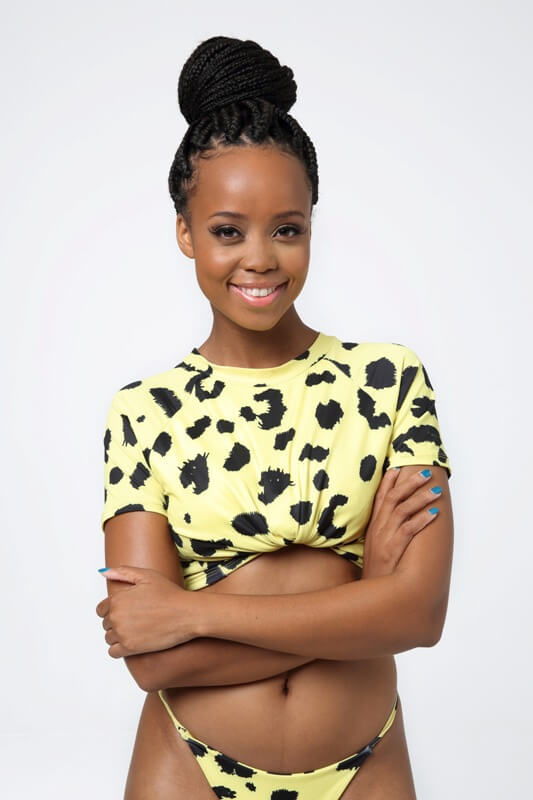 South African actress and TV personality Ntando Duma