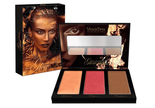 Viva La Diva Make-Up Glo Mud Palette (cream blush)