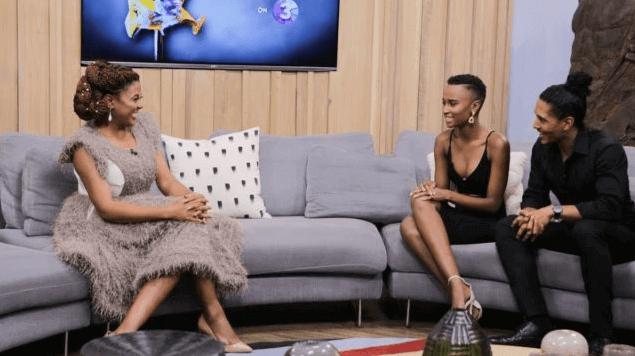 Basetsana Kumalo and Miss Universe Zozibini Tunzi
