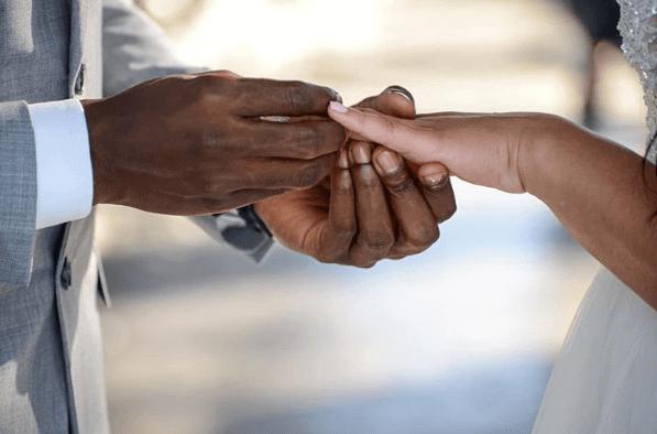 Hungani Ndlovu and Stephanie Sandows tied the knot