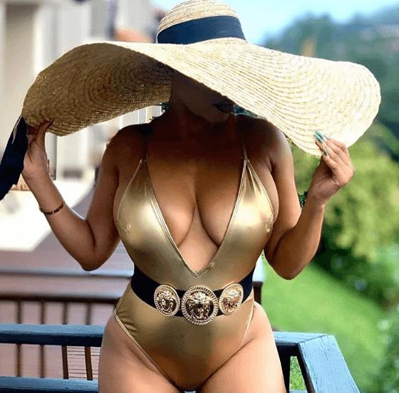 Actress Sonia Mbele bikini body