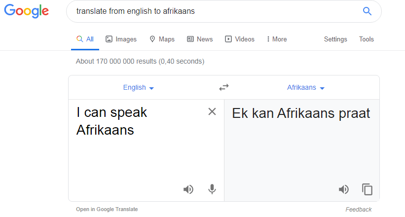 translate from english to afrikaans