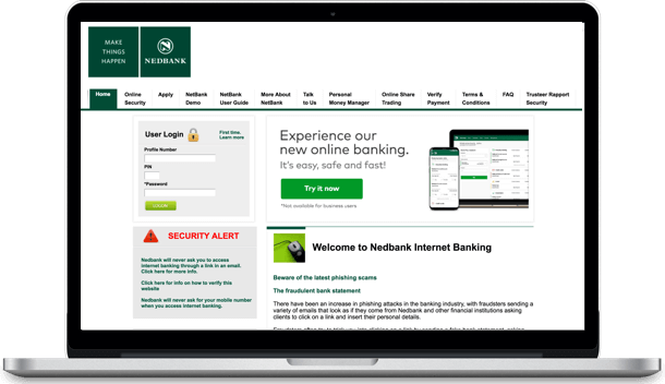 How does Nedbank internet banking work