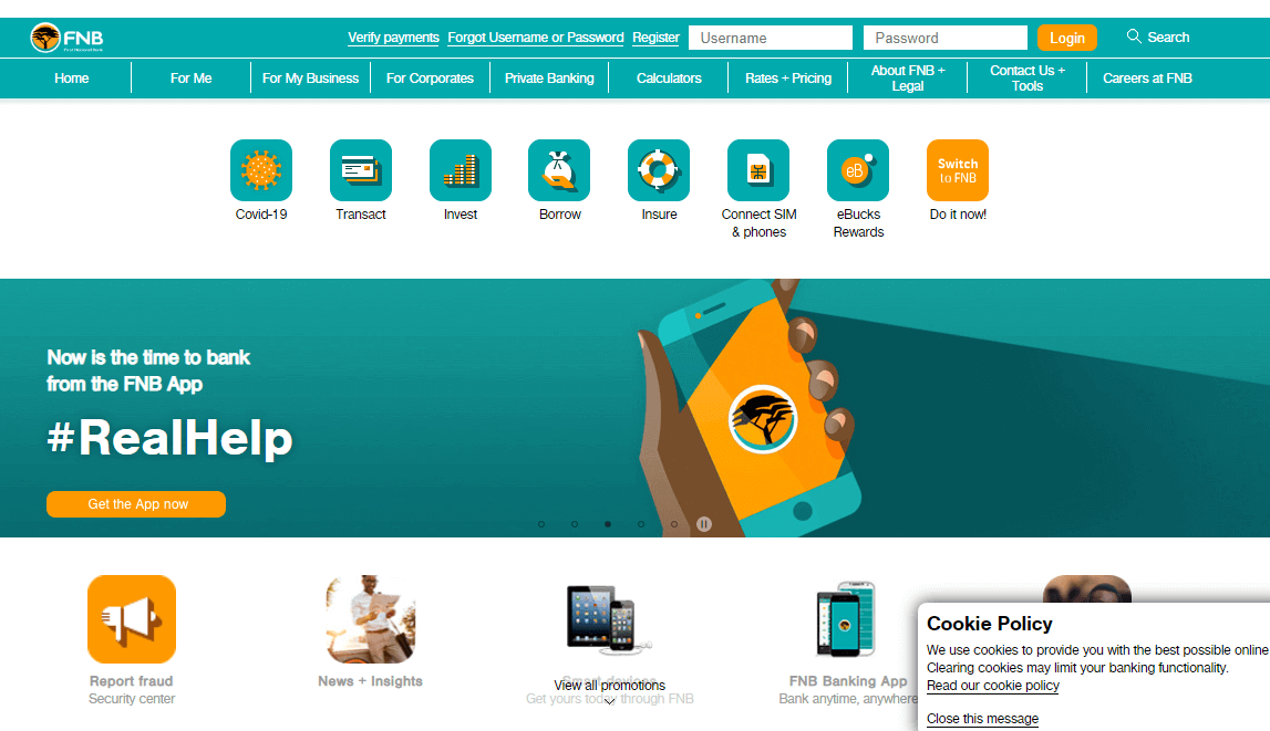 How to register for FNB Online Banking