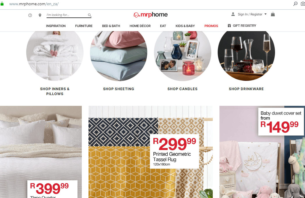 Mr Price Home Website