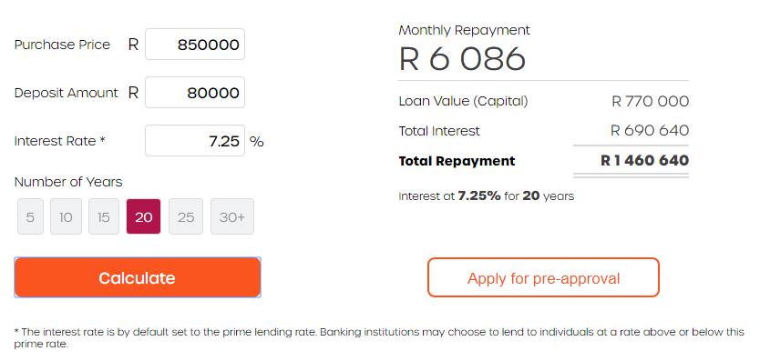 Bond Repayment Calculator