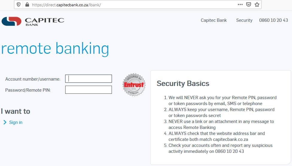 Capitec Internet Banking Login