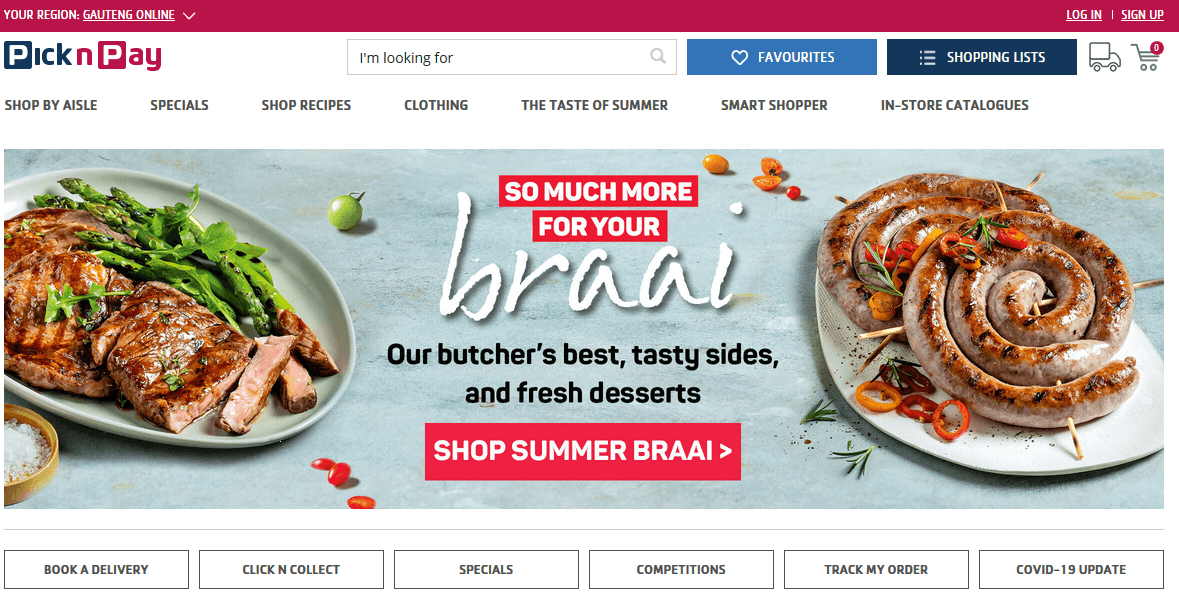 Pick n Pay Online Shopping Account