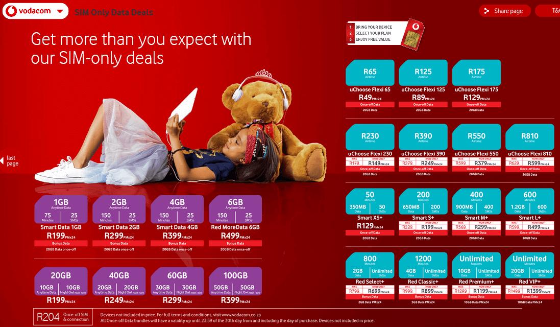 Vodacom Deals Online