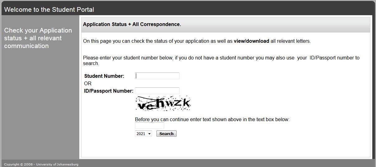 How to Check University of Johannesburg UJ Application Status