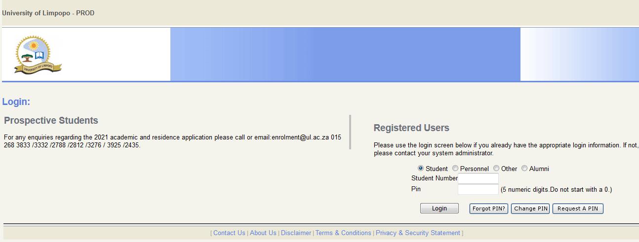UL Online Facilities Login