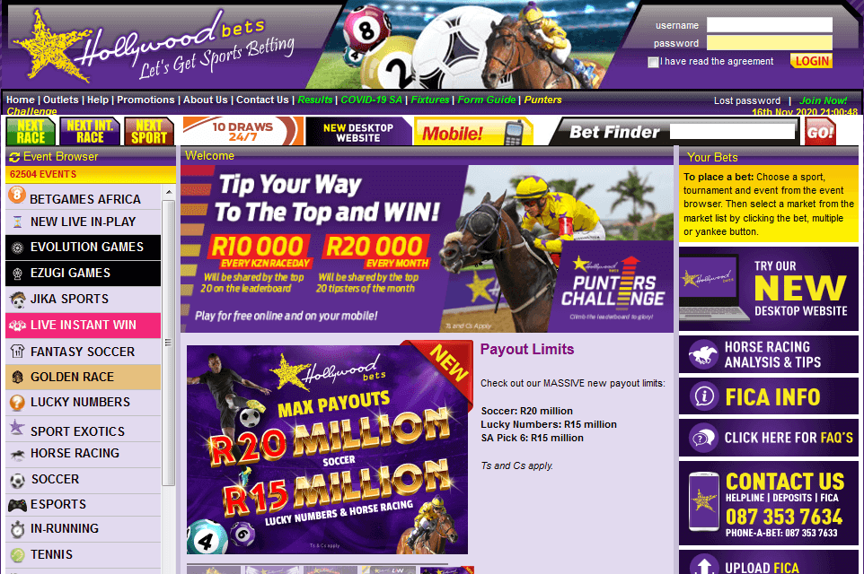 How to Login to Hollywoodbets Account