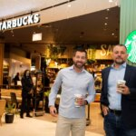 CEO Shopright Checkers Pieter Engelbrecht with CEO of Rand Capital Coffee Adrian Maizy