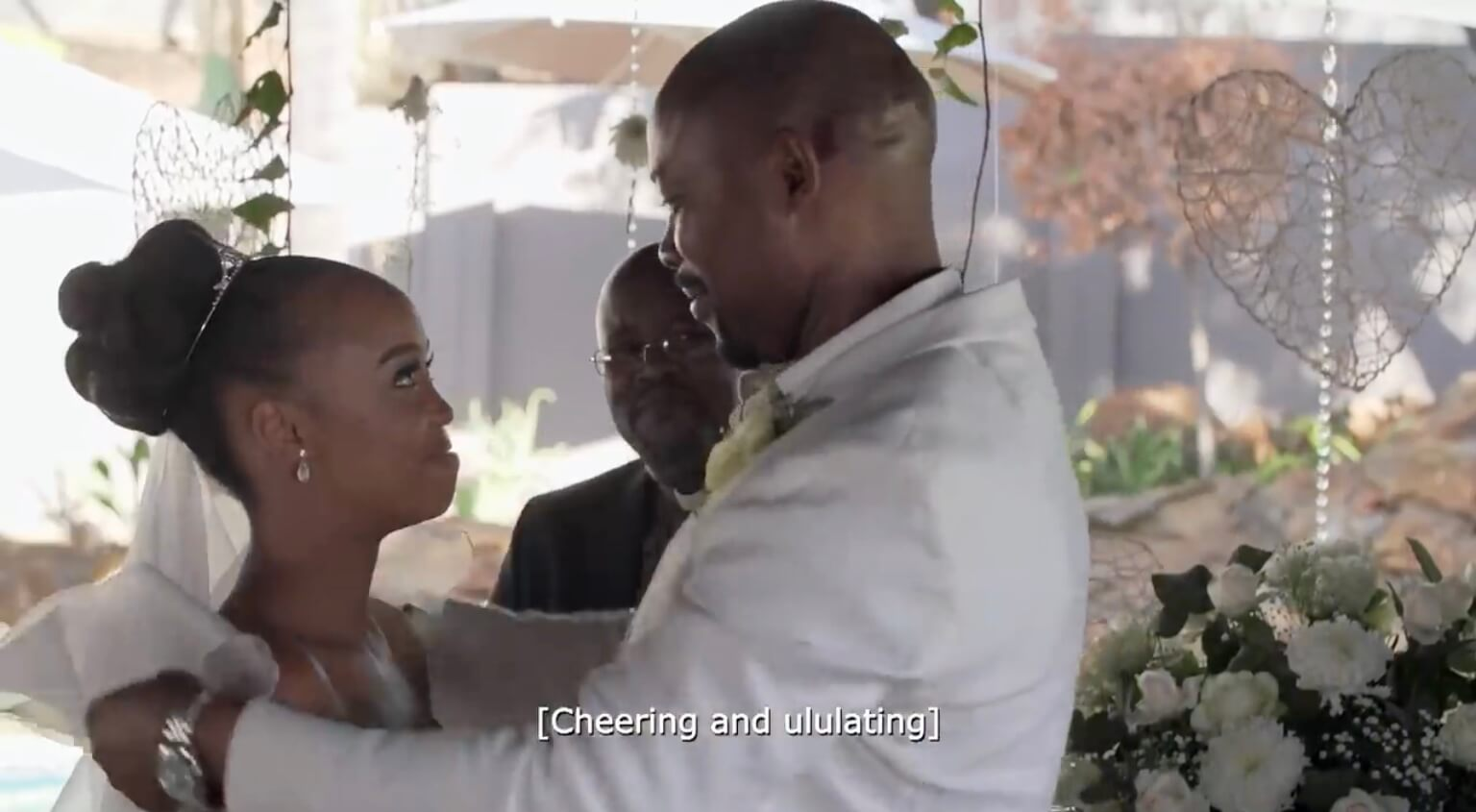 Schumacher and Mpho's garden wedding