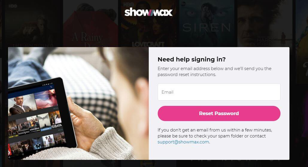 Showmax Login Password