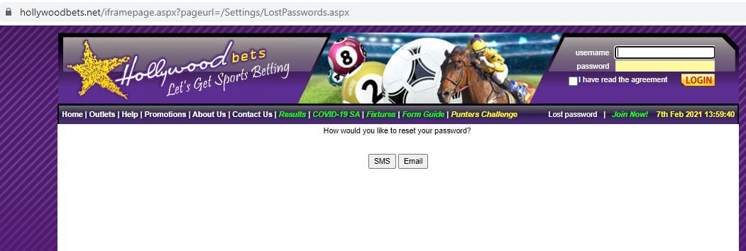 Hollywoodbets Login Forgot Password
