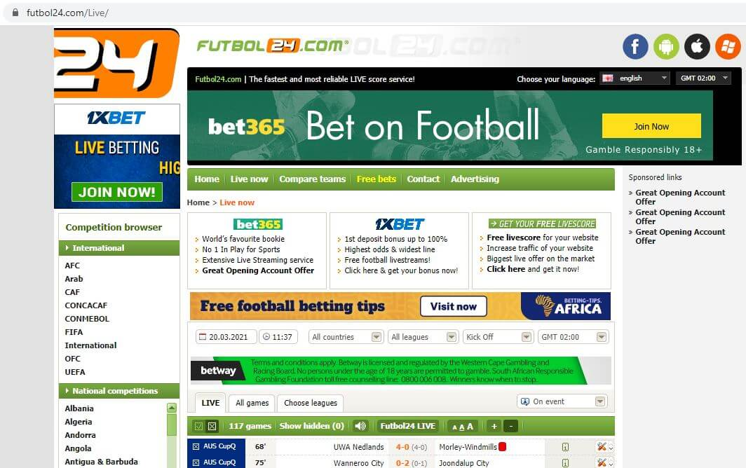 Futbol24 South Africa
