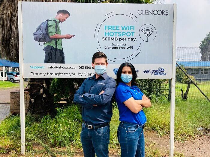 Ian Troskie, Community Manager at Glencore Coal and Shireen Powell, Chief Operating Officer of Isizwe.[2]