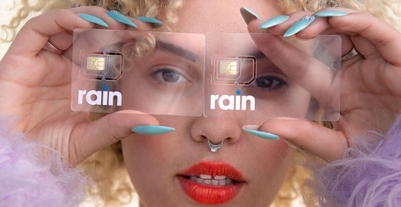 Rain SIM Card Clicks