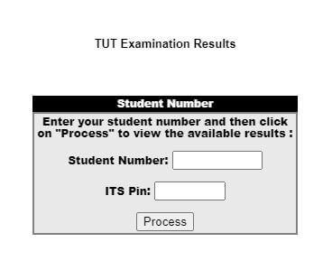 TUT Examination Results