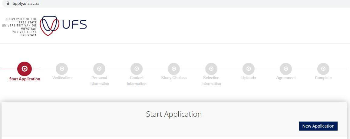 UFS online application process