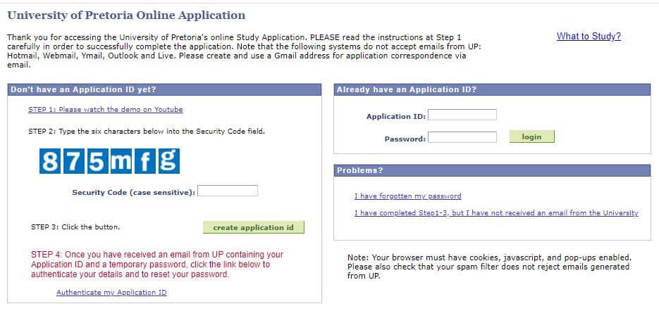 UP Online Application Login