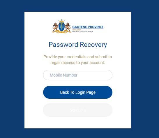 GDE Parent Login Password